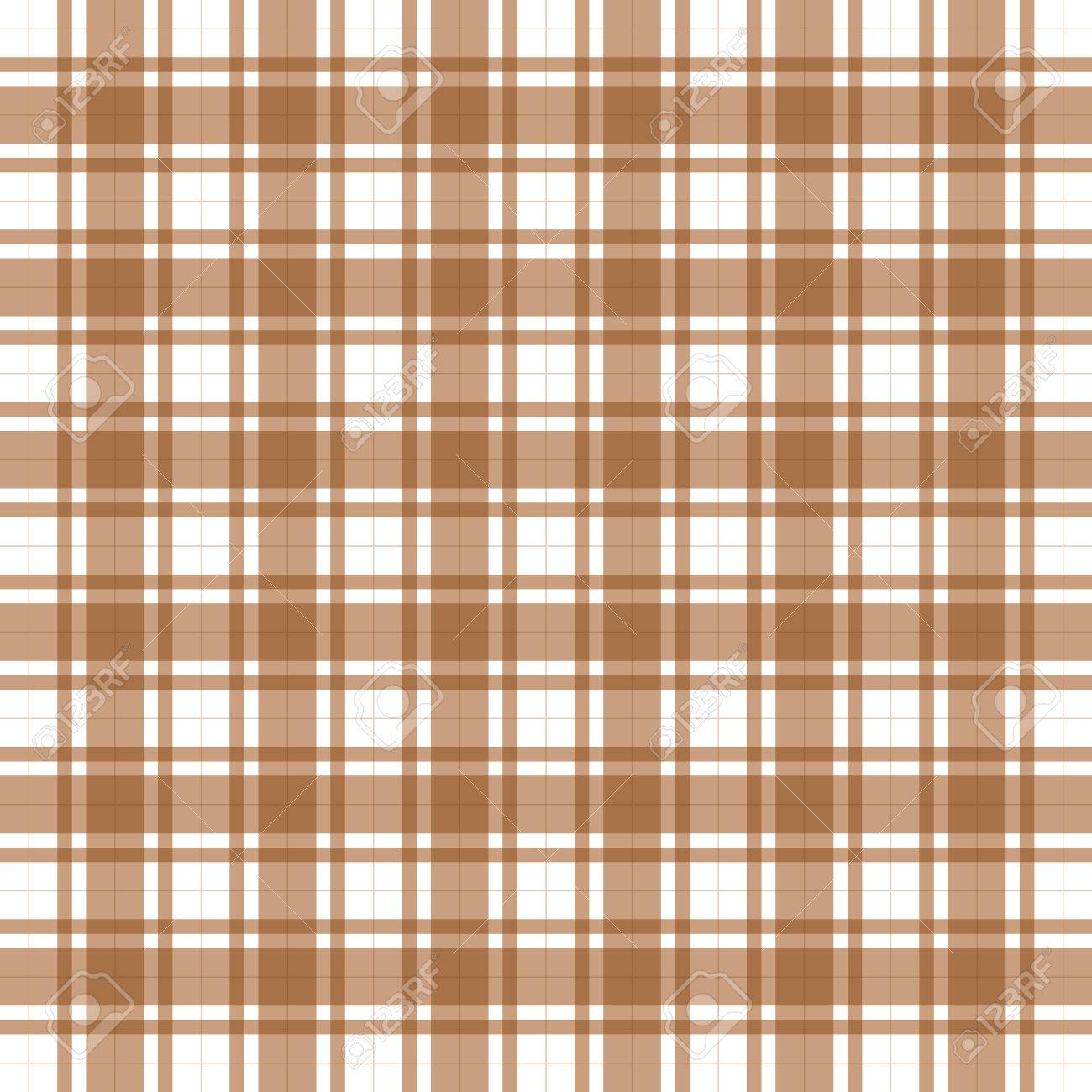 Illustration Of Classic Brown Plaid Tablecloth And White Stock Illustration    25839696