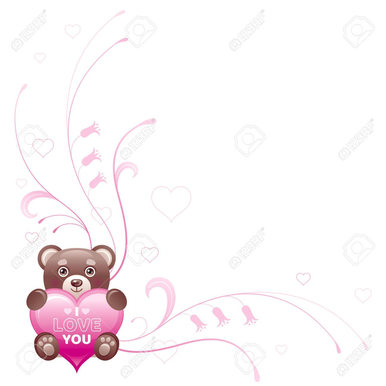 Happy Valentines Day Border. I Love You - Text Lettering. Toy ...