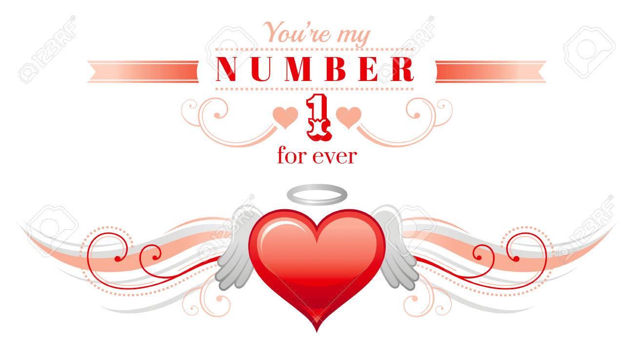 Happy Valentinstag Rahmen Engel Flügel. Romance, Liebe Text ...