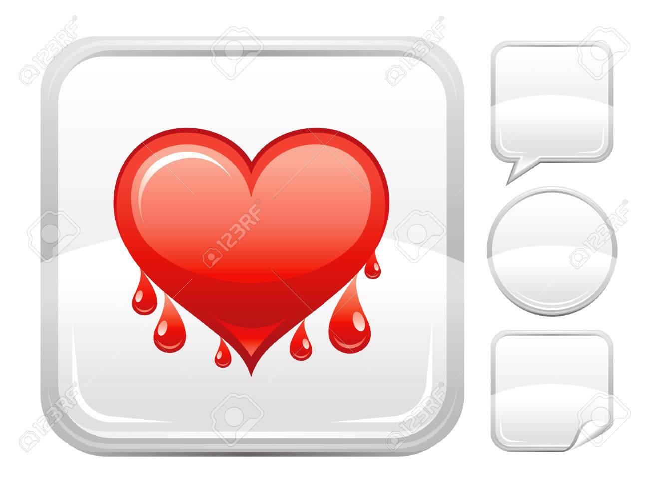Happy valentines day romance love heart bleeding heart icon happy valentines day romance love heart bleeding heart icon isolated on white background romantic buycottarizona