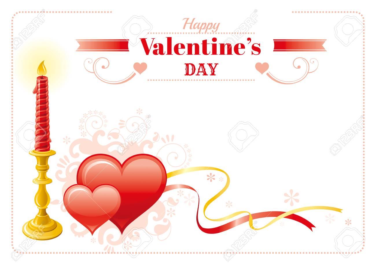 Glückliche Valentinsgrußtagesgrenze, Rote Herzpaare, Retro ...