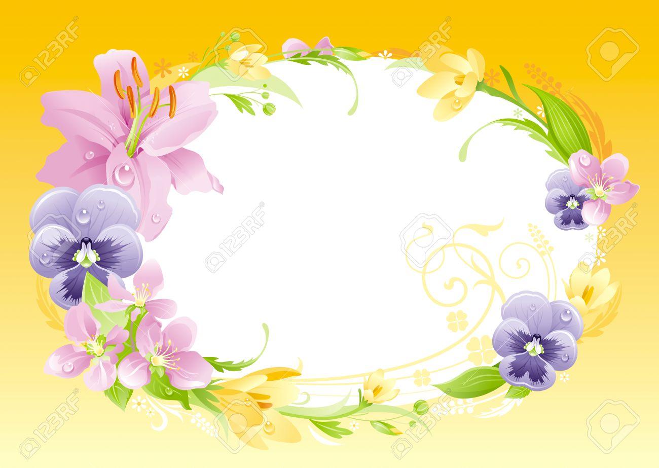 Fondo Amarillo Del Resorte. Pascua, Día De La Madre, Cumpleaños ...