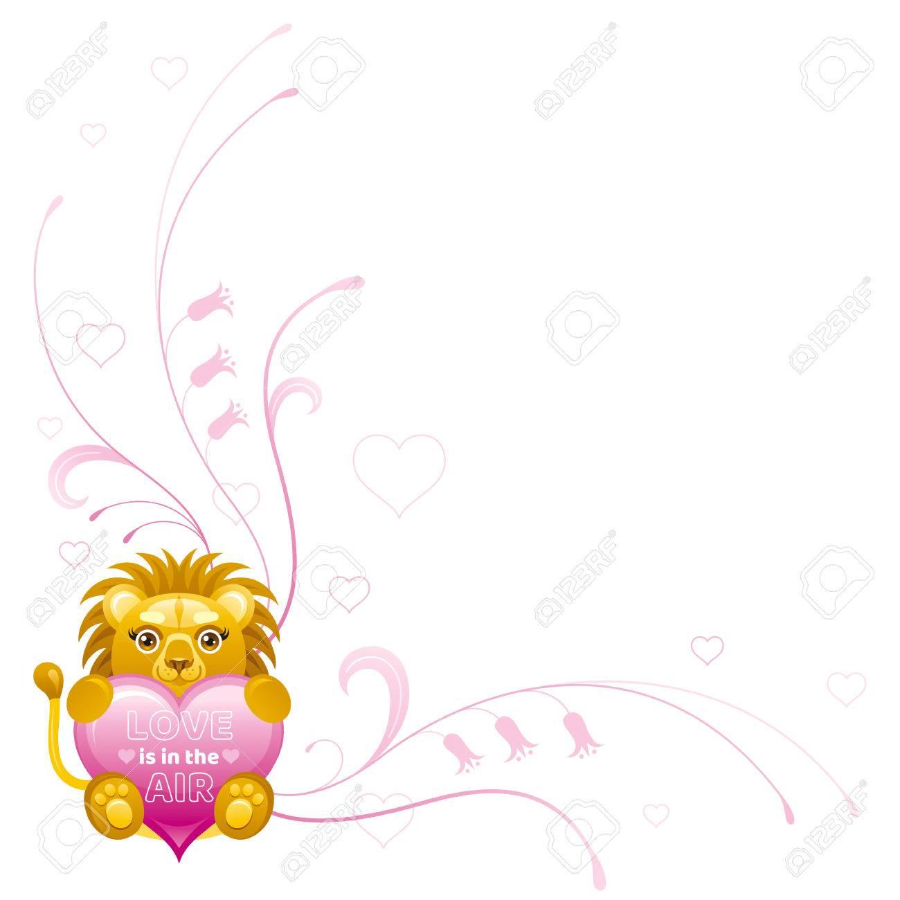 Happy Valentines Tag Grenze. Liebe Liegt In Der Luft ...