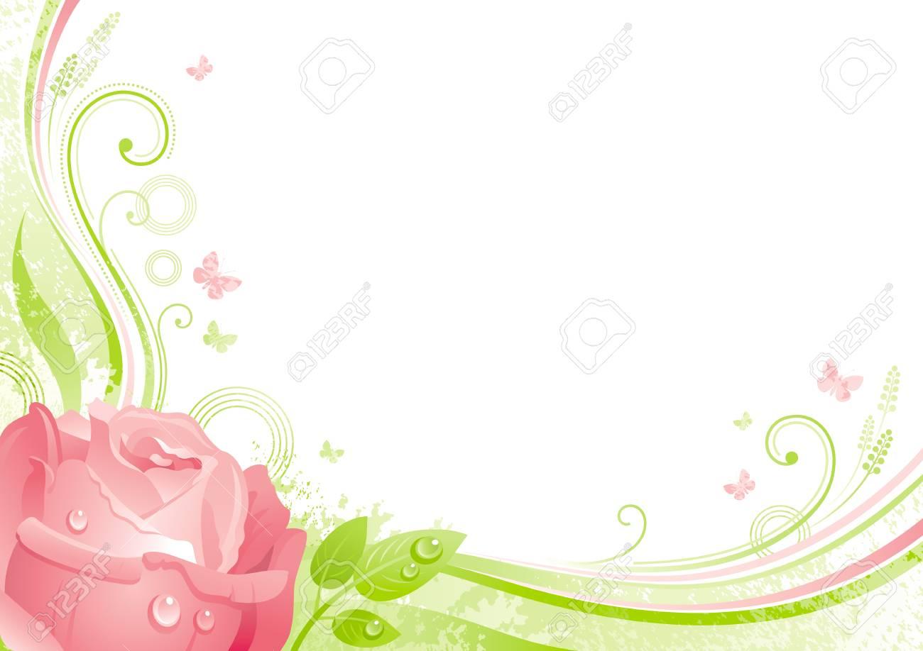 De Lente Pasen Moederdag Verjaardag Huwelijk Uitnodiging Rose