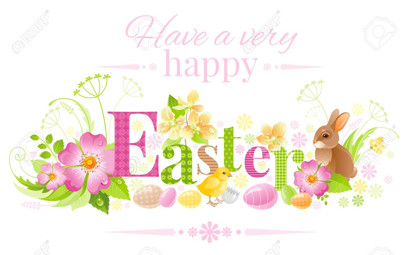 2019 year lifestyle- Easter Happy banner pictures