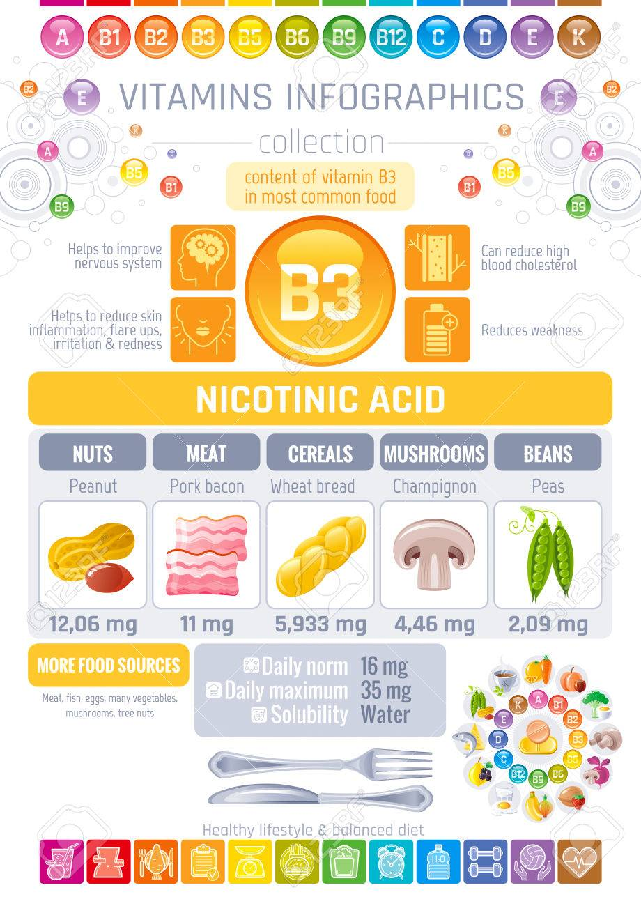 Nicotinic acid vitamin b3 rich food icons healthy eating flat nicotinic acid vitamin b3 rich food icons healthy eating flat icon set text letter ccuart