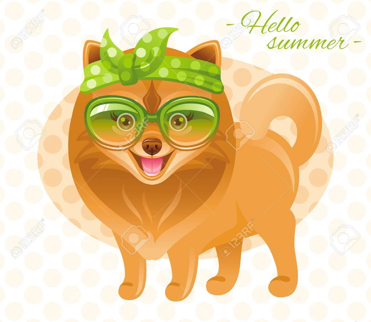 5eb2db8cfd Summer Fashion Pomeranian Spitz Puppy Dog In Sweet Retro Clothes ...