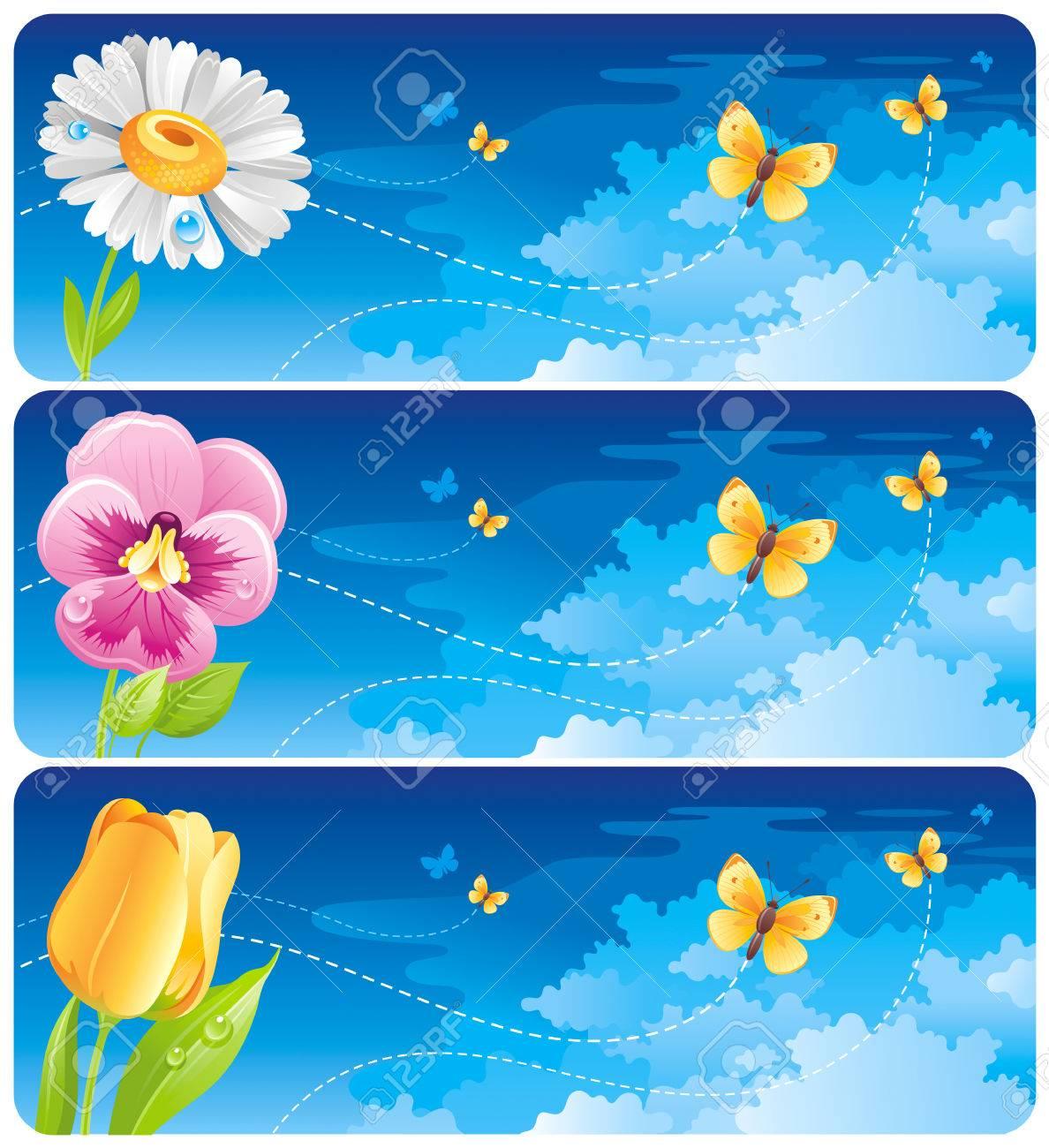 dd9519e5246 Spring Banner Set. Easter