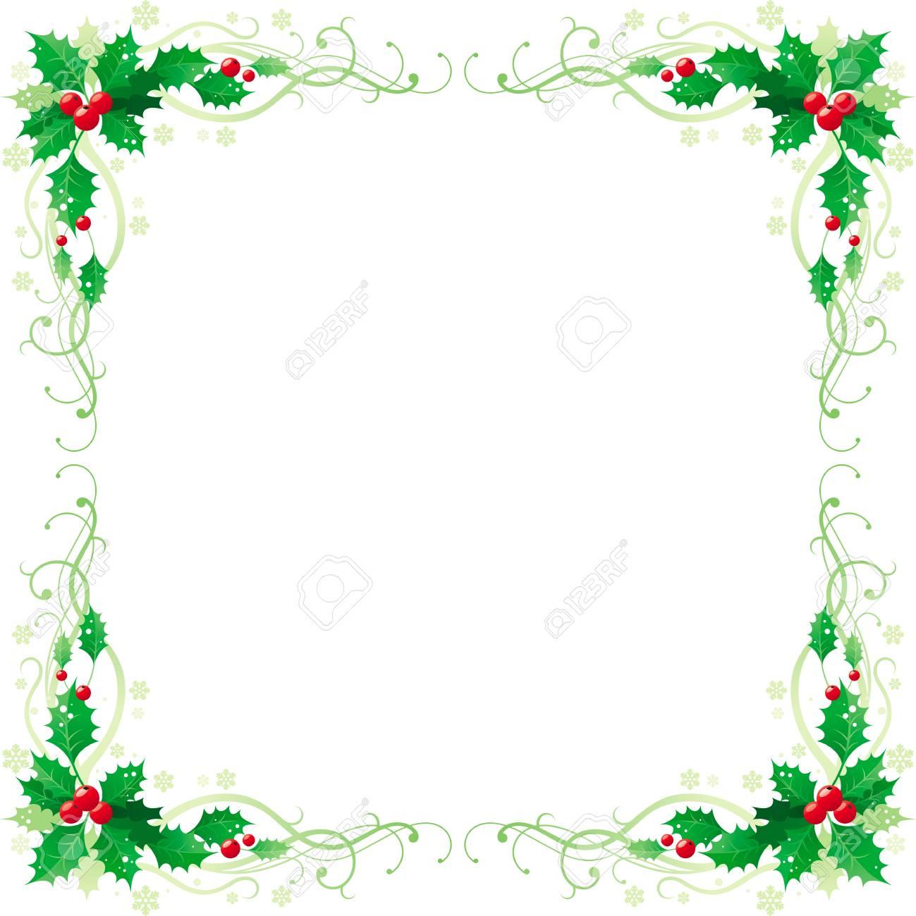 Joyeux Noël Et Bonne Année Bordure De Cadre Bannière Coin Carré