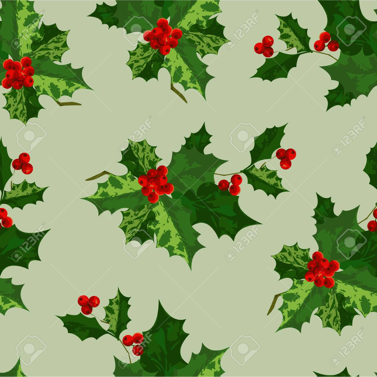 Holly background Stock Vector - 11261830