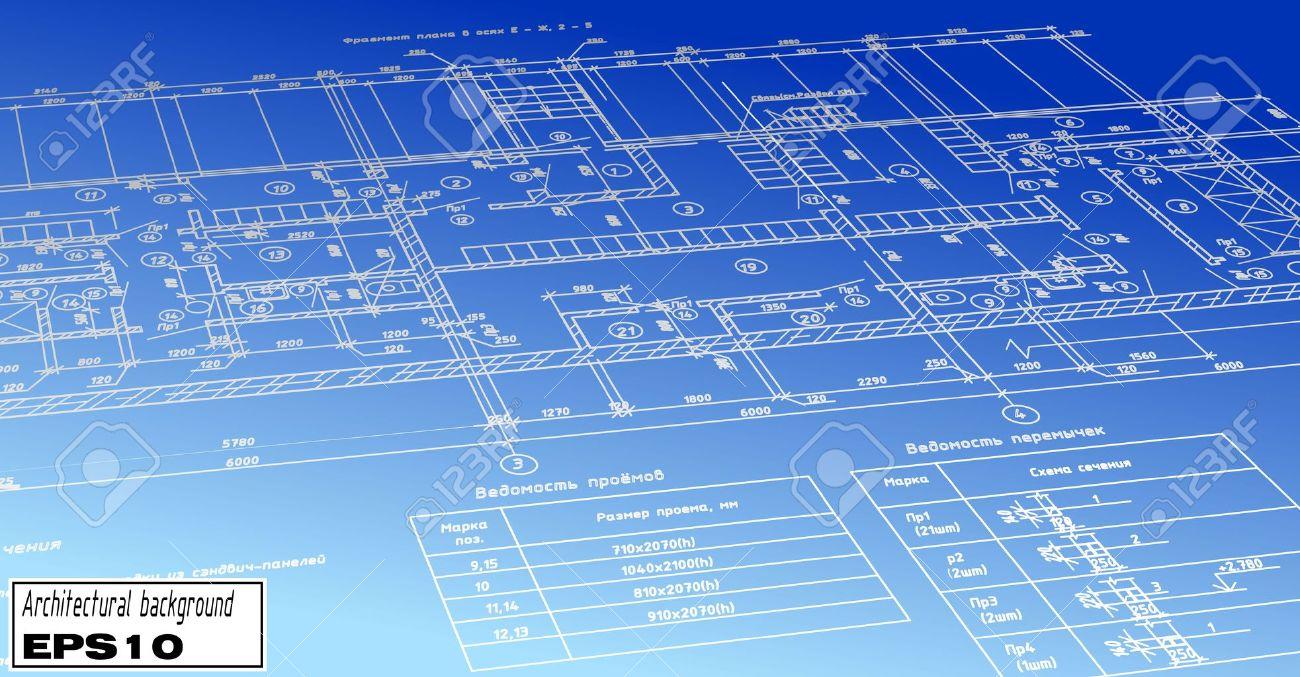 Vector plan blueprint