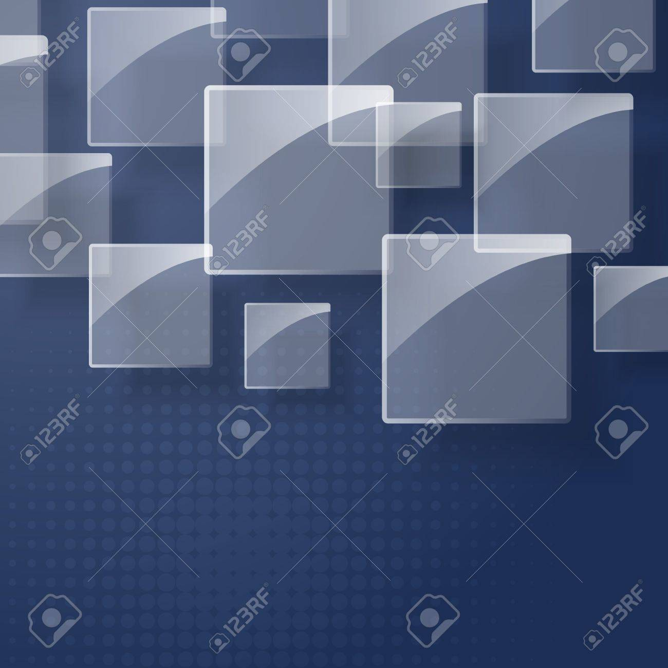 Abstract glass square on dark background Stock Vector - 16872119