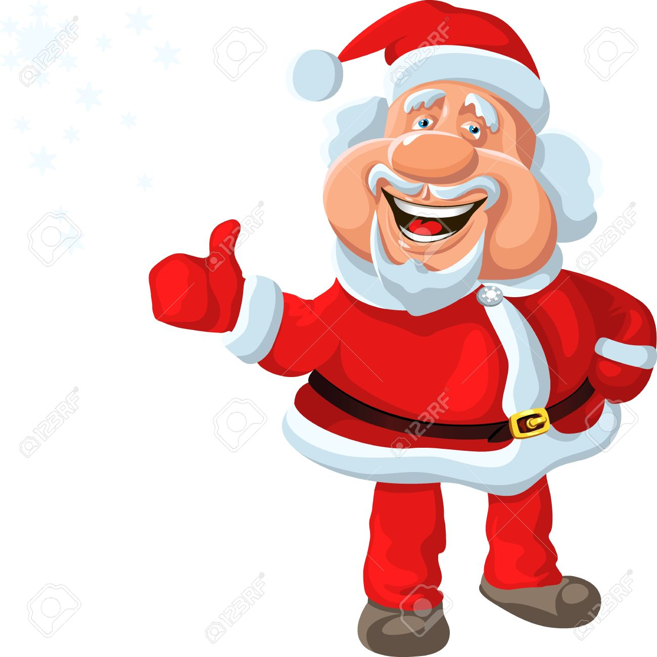 funny cartoon Santa Claus shows OK, isolated on the white background Stock Vector - 11067695