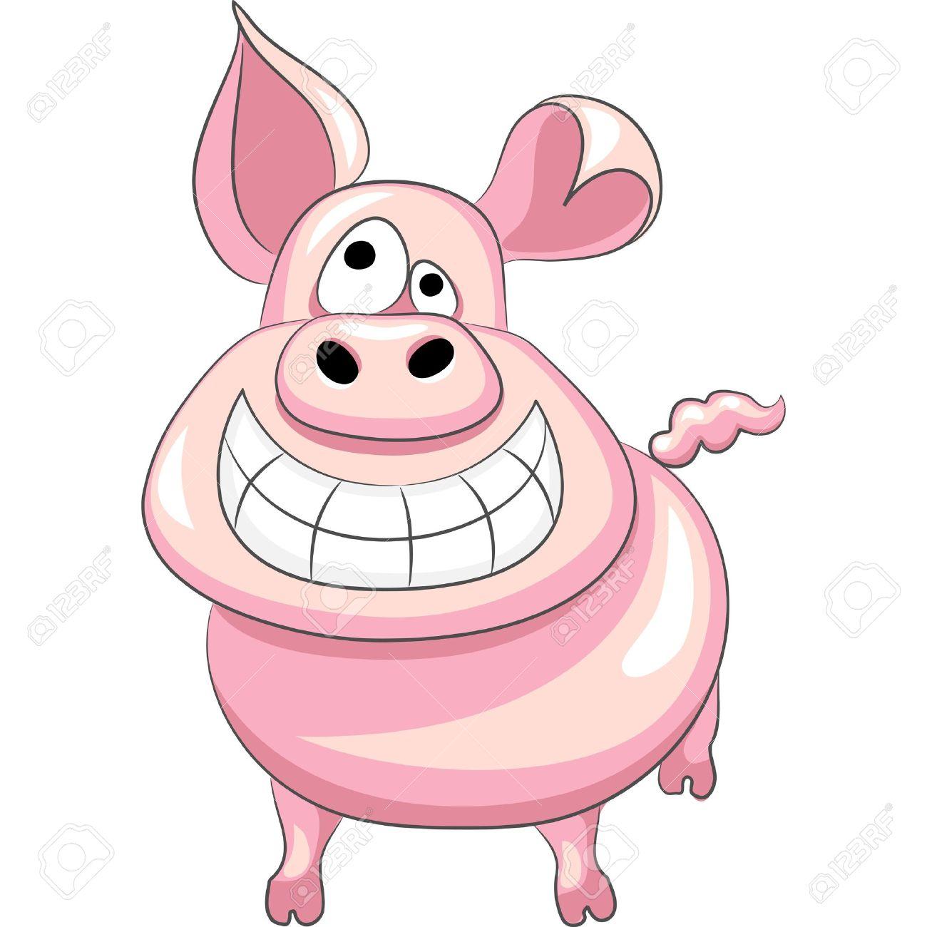 funny cartoon happy pig smile Stock Vector - 12000365