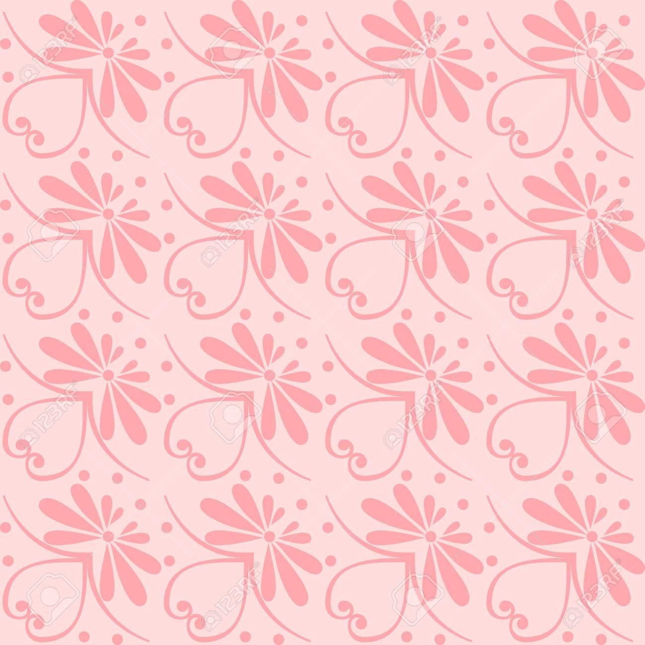 セット シームレスなかわいいピンクと青のギリシャの花柄 無限