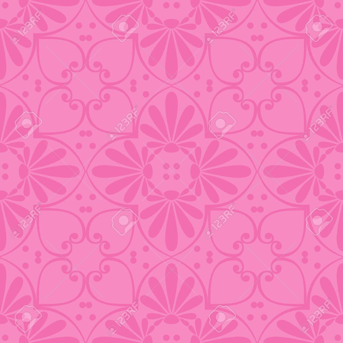 シームレスなかわいいピンク ギリシャの花柄 無限テクスチャ壁紙や