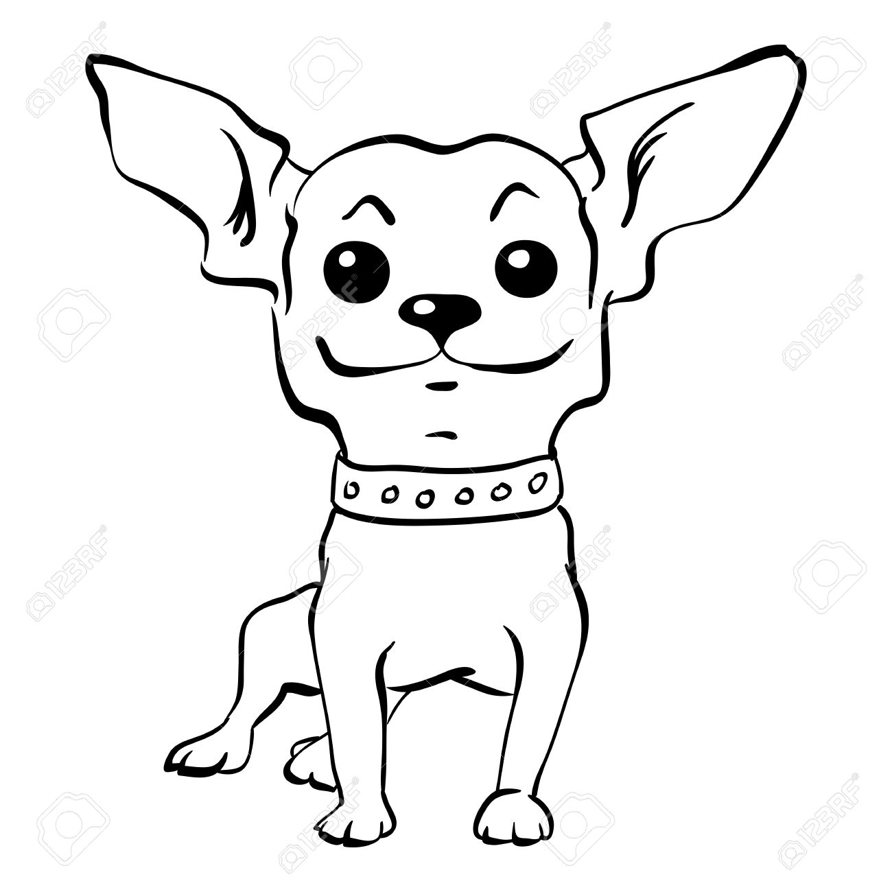 funny dog drawing