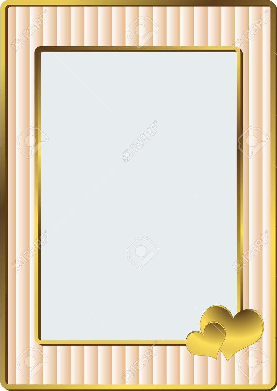 simple rosa a rayas marco para una foto de bodas vector foto de archivo