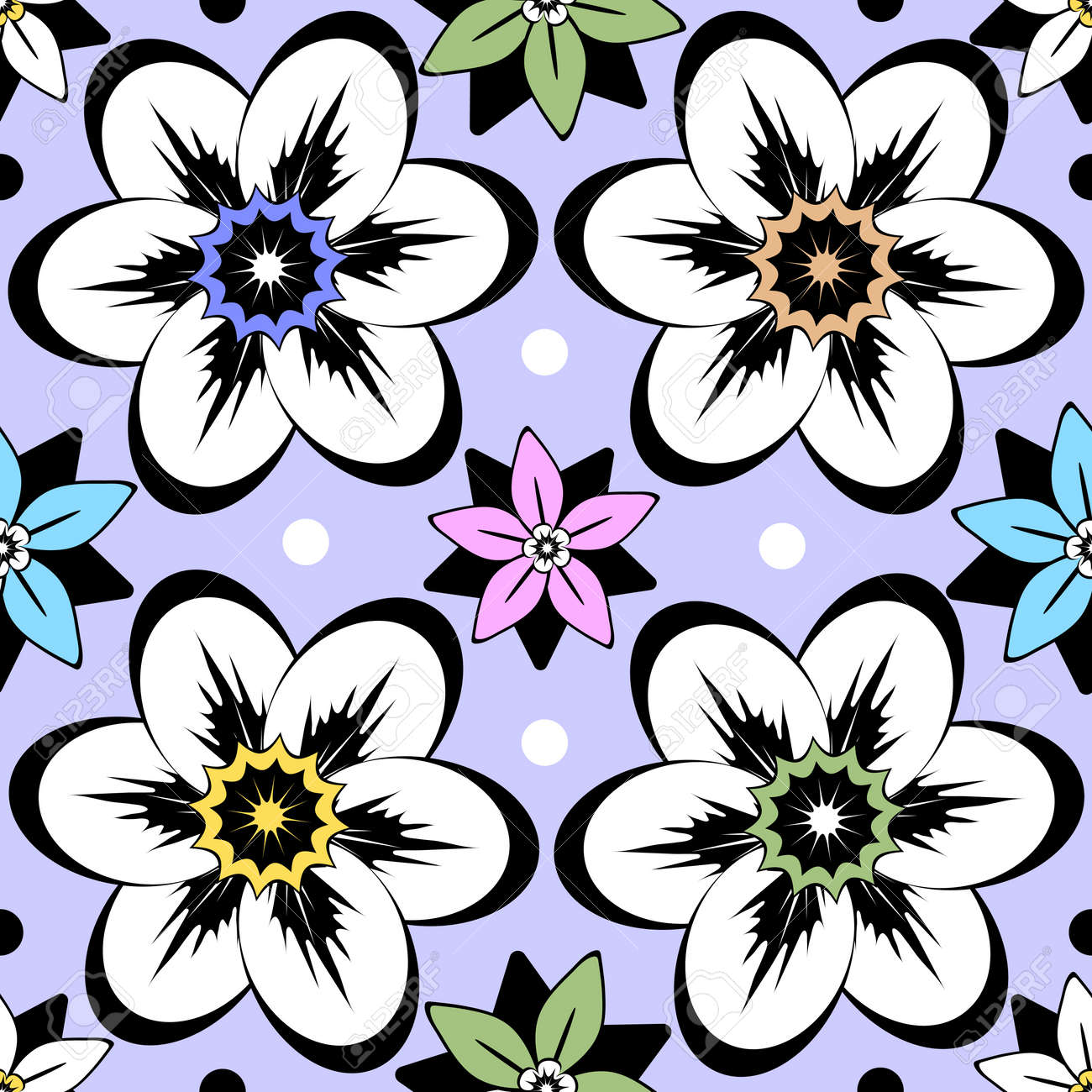 Seamless vintage floral pattern Stock Vector - 5639500