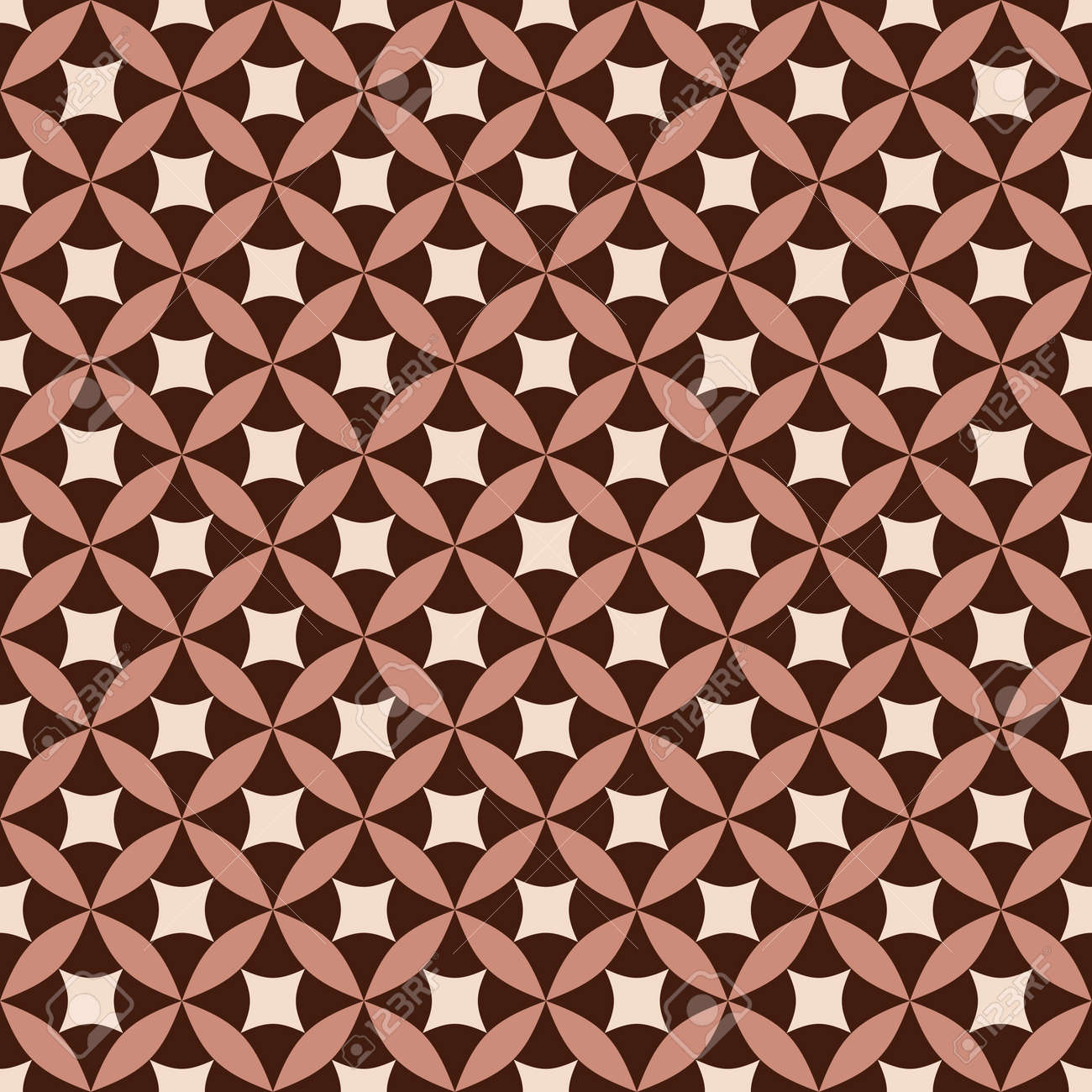 Brown and pink seamless pattern (vector, EPS 8) Stock Vector - 9166515