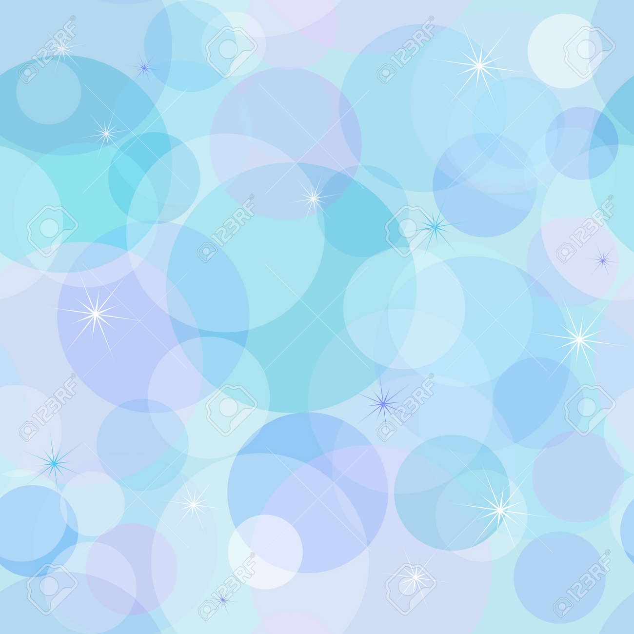 Gentle seamless pastel wallpaper with chaotic blue and pink balls (vector) Stock Vector -