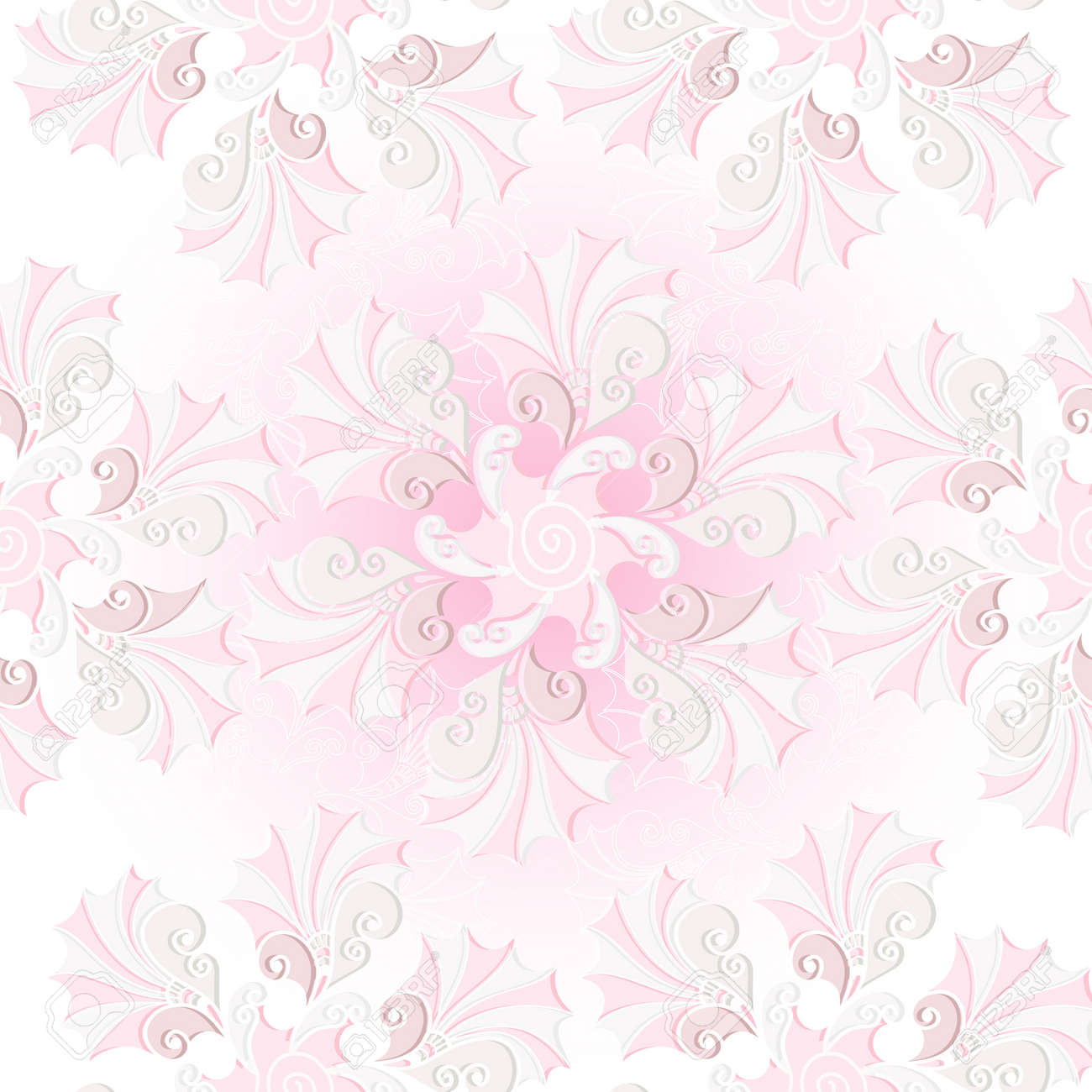 Gentle pastel pink vintage seamless pattern with flowers Stock Vector - 16524948