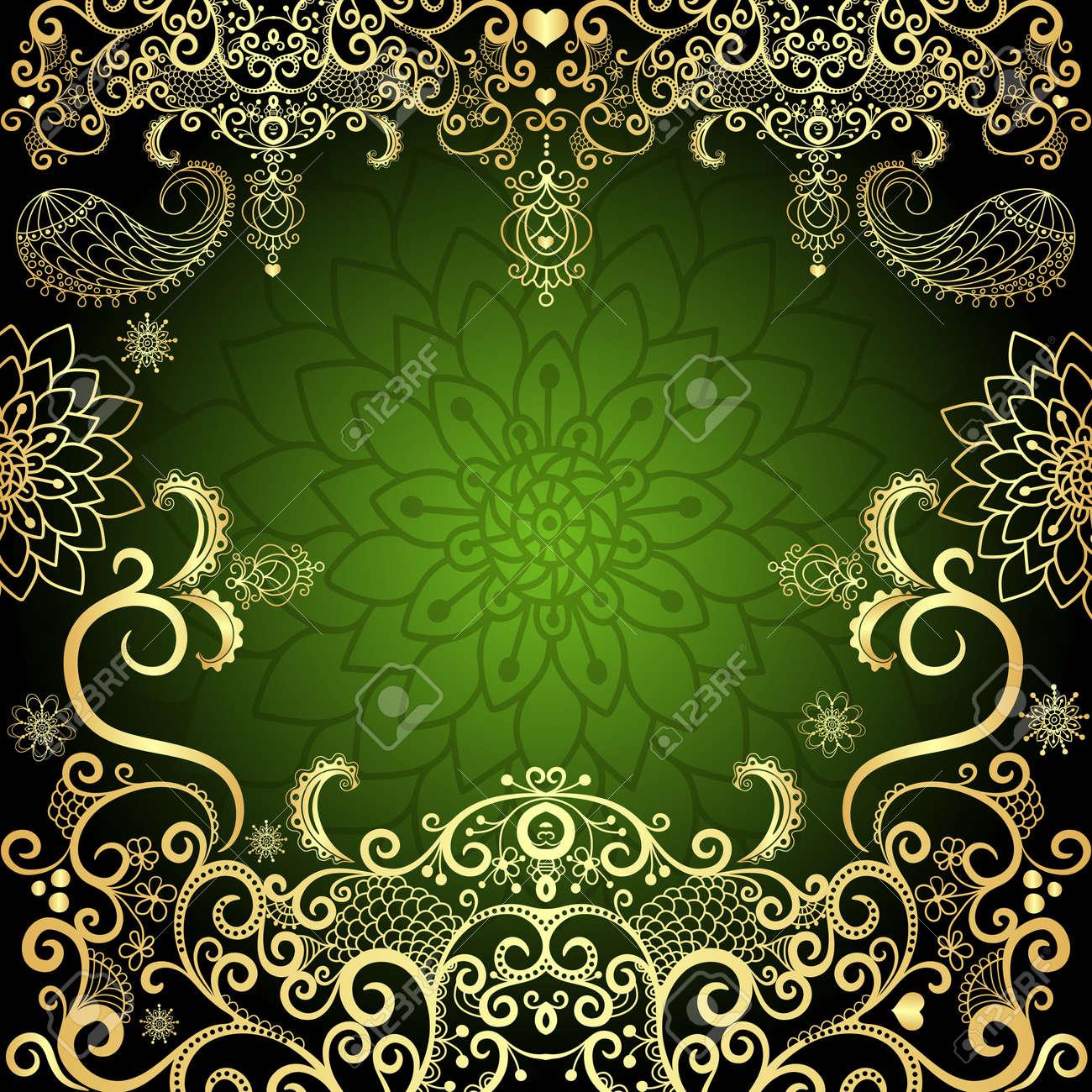 Green Seamless Wallpaper Pattern Royalty Free Cliparts Vectors