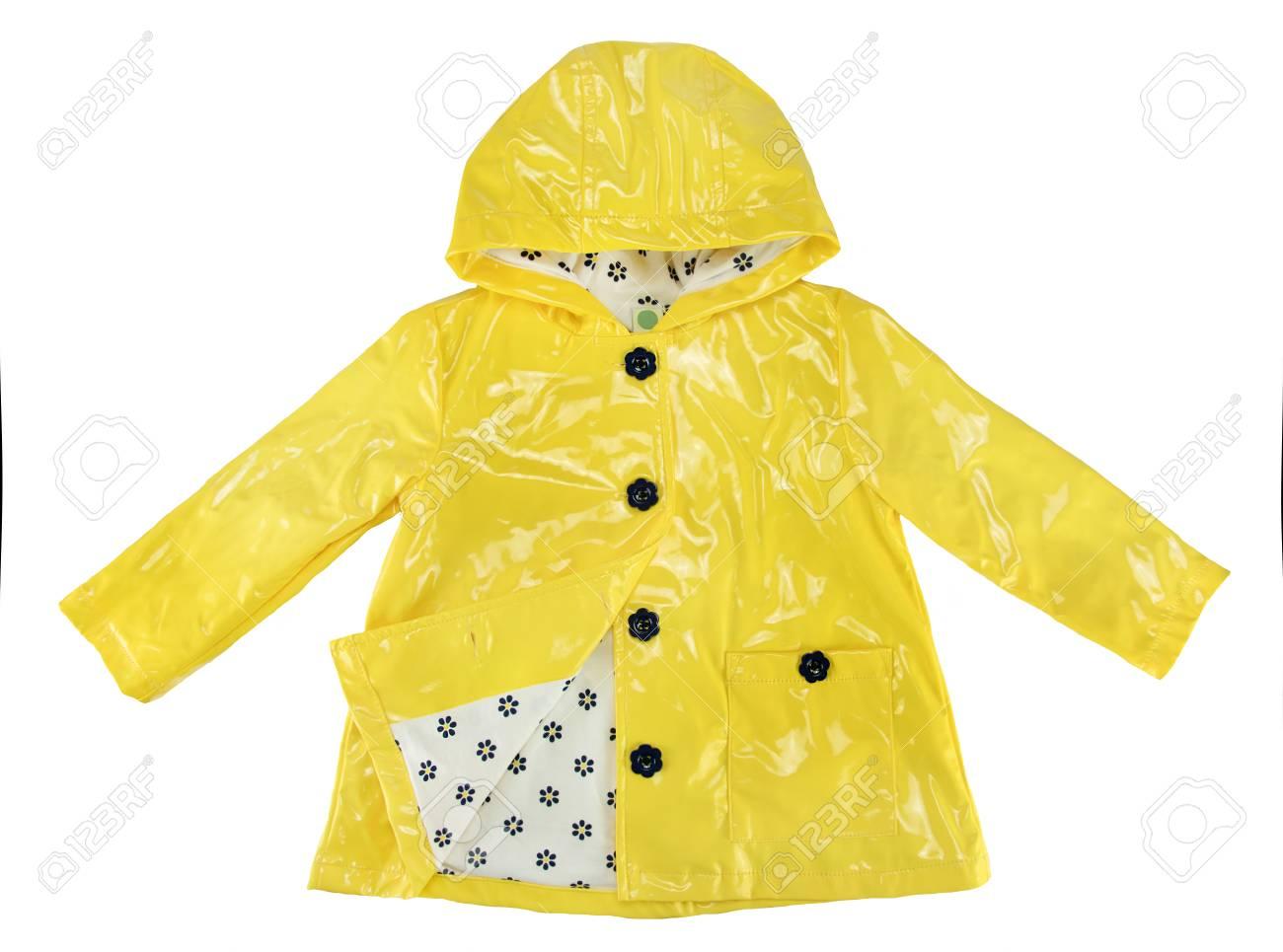 Elegance rain jacket yellow for girl - 98690374