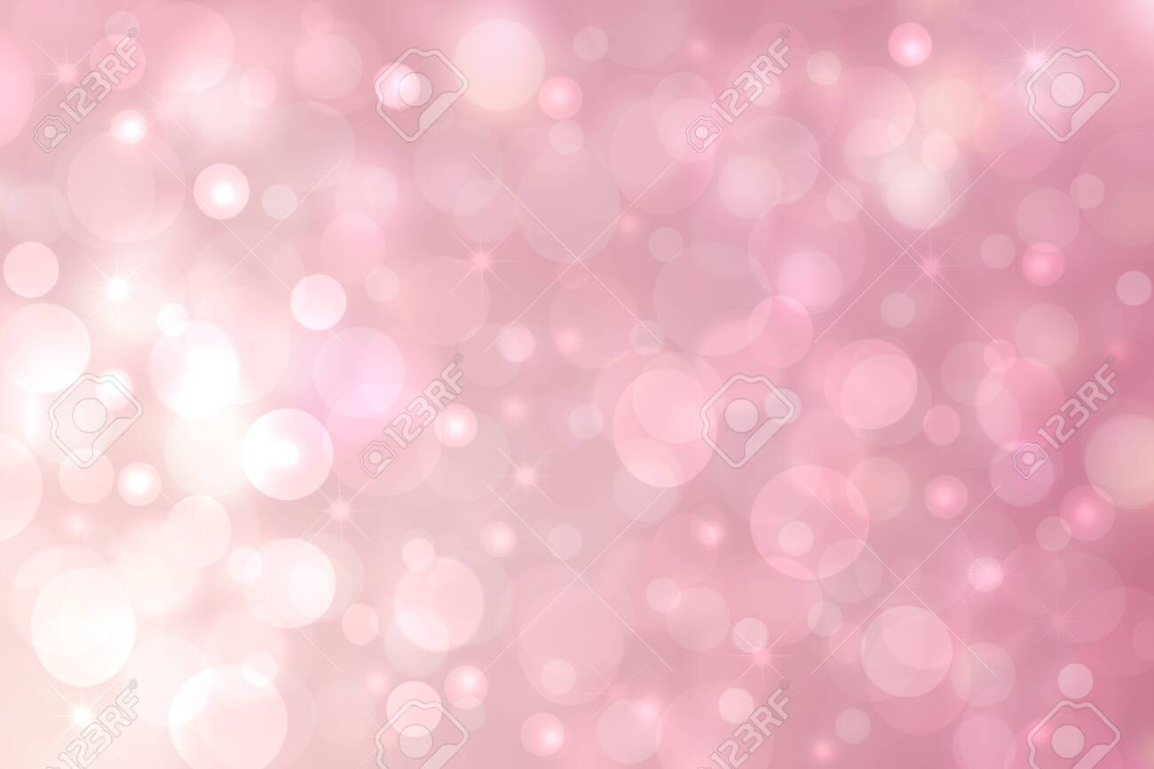 Abstract Pink White Light Background Texture With Glowing Circular