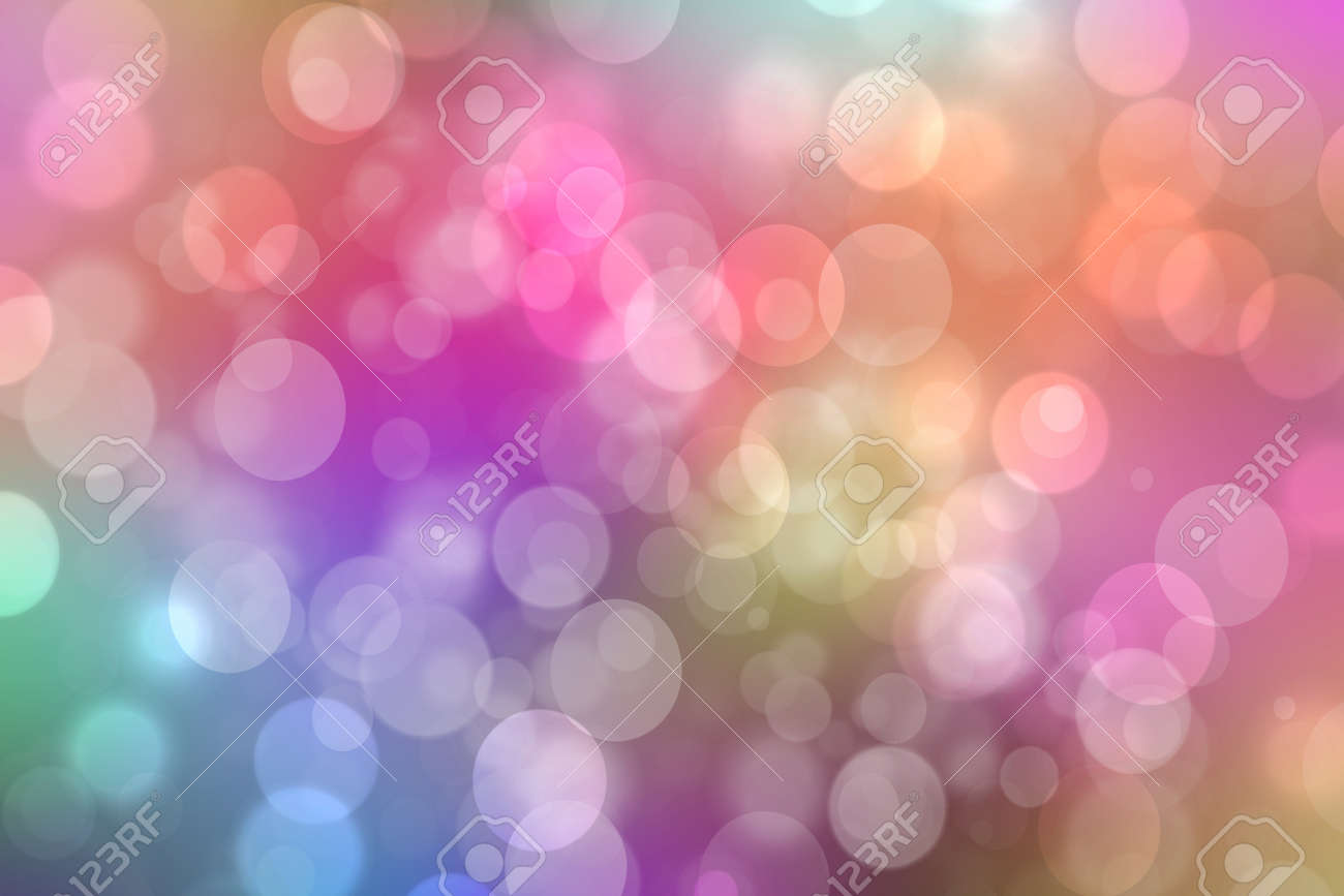 Rainbow background. Abstract fresh delicate pastel vivid colorful fantasy rainbow background texture with defocused bokeh lights. Beautiful light texture. - 135502084