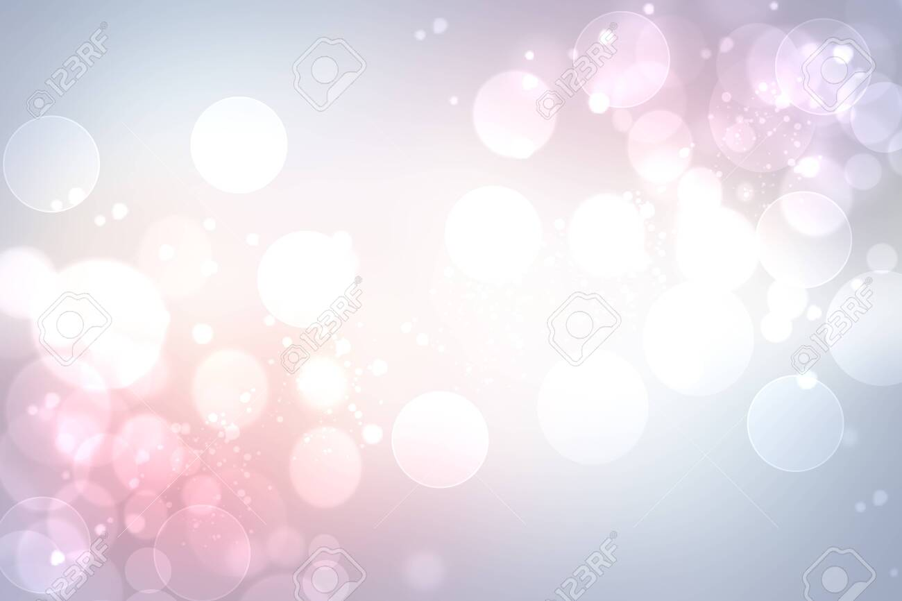 Abstract blurred vivid spring summer light delicate gradient pastel pink blue bokeh background texture with bright soft color circles and glowing bokeh lights. Beautiful backdrop illustration. - 151447239
