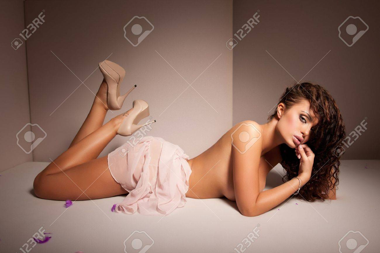 Sexy girl on a brown background Stock Photo - 10018155
