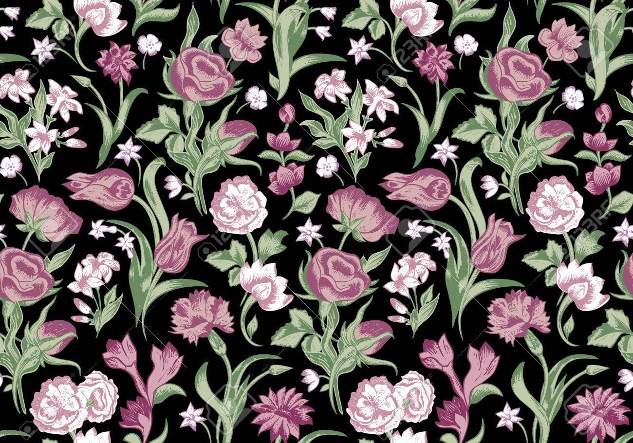 Luxury Dark Floral Background