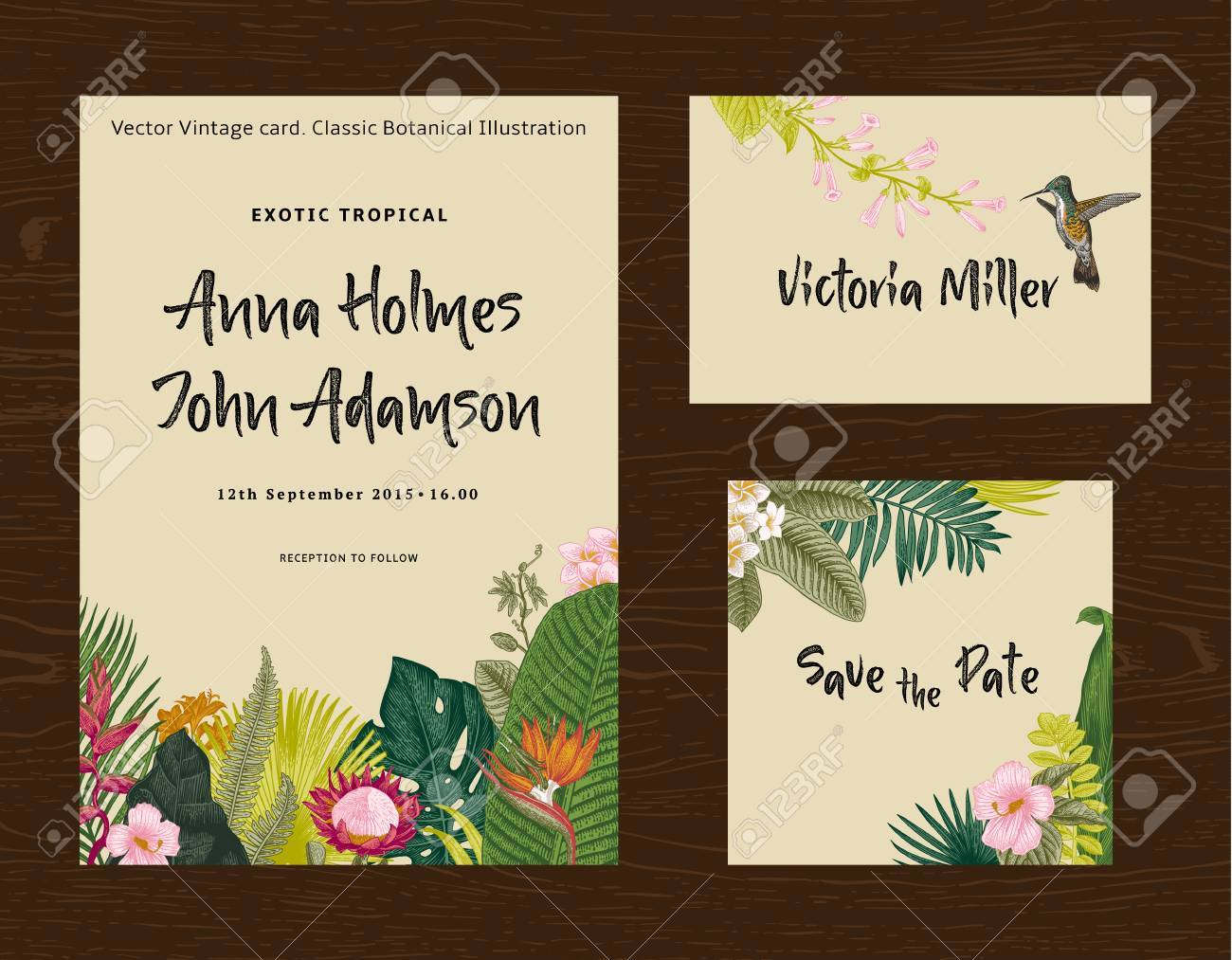 set wedding printing the invitation guest card save the date