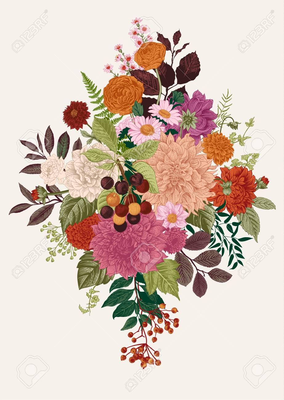 Floral vector illustration - 83924249