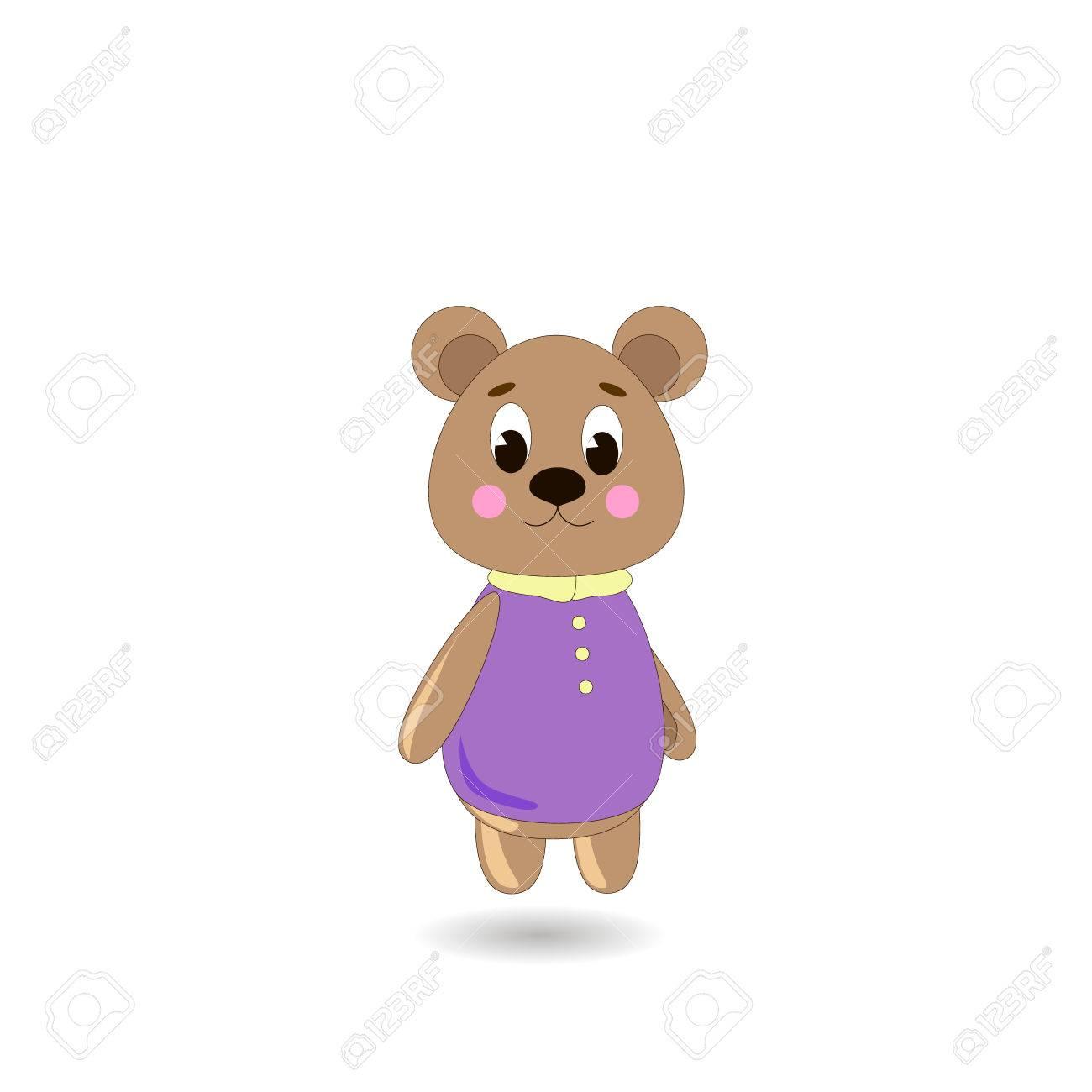 Vettoriale ute orso cartone animato su uno sfondo bianco può