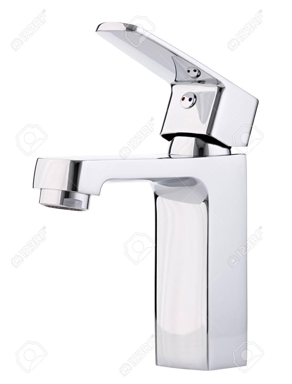 Kaltes Heißes Wasser Des Mischers. Modernes Badezimmer Mit ...