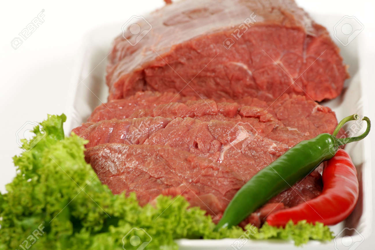 freshly raw beef and vegetables Stock Photo - 2102629