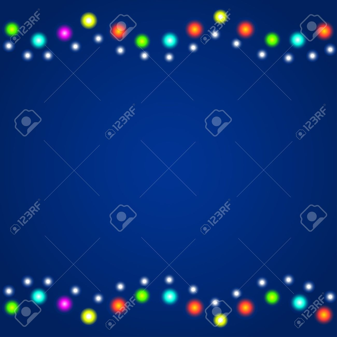 Winter, christmas, new year background with colourful christmas lights Stock Vector - 16460684