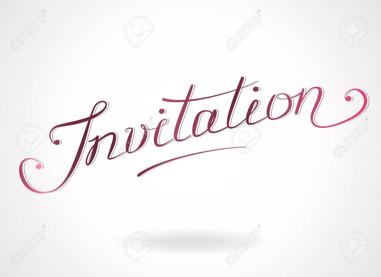 Plantilla A Mano Las Letras Invitación Para Las Invitaciones Tarjetas De Felicitación