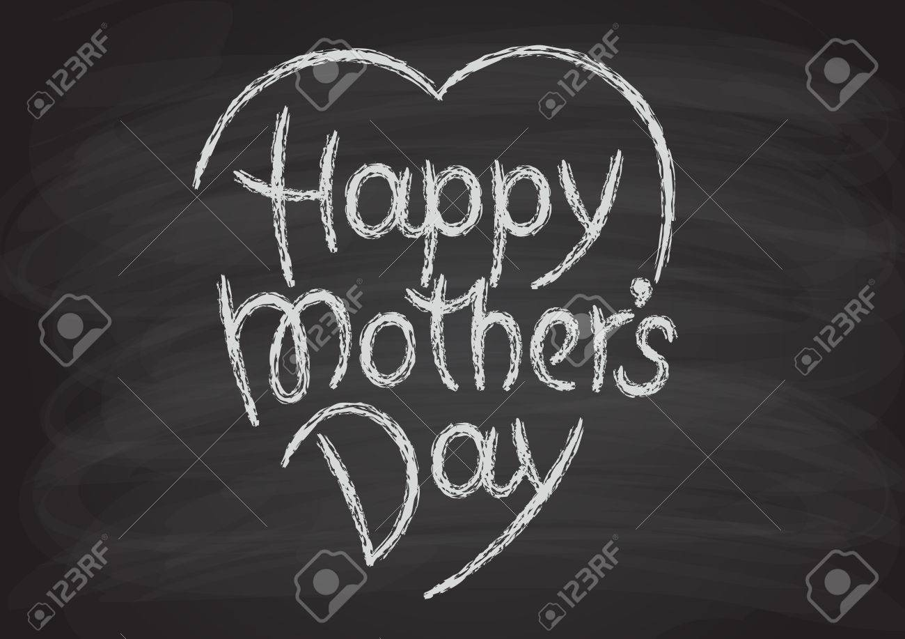 black white sign letter word font happy mothers day hand drawn lettering chalk