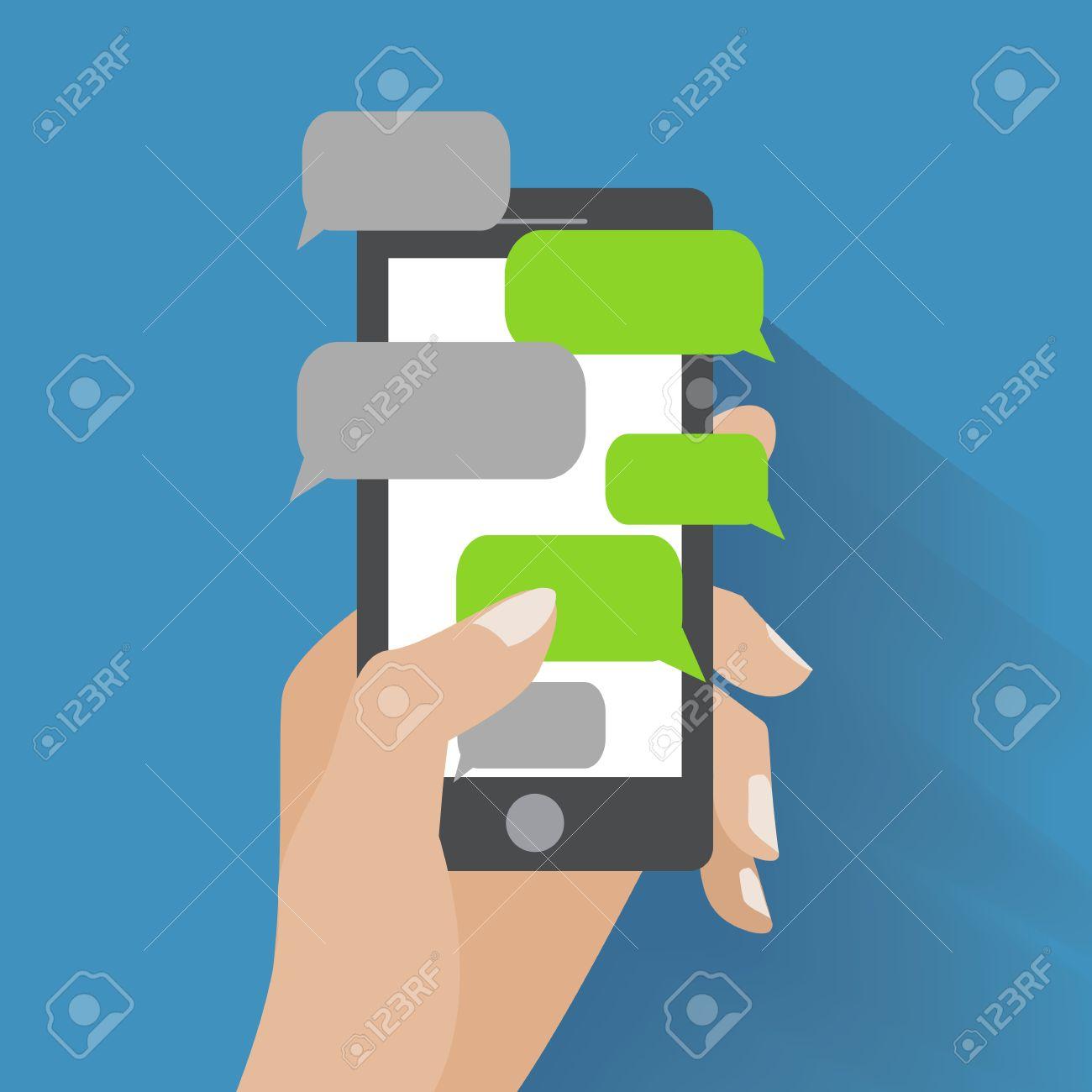 Blank Text Message Bubble Text messaging flat design