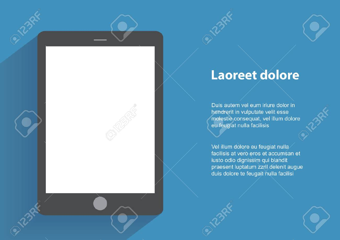 Tablet computer with blak screen. - 36005931