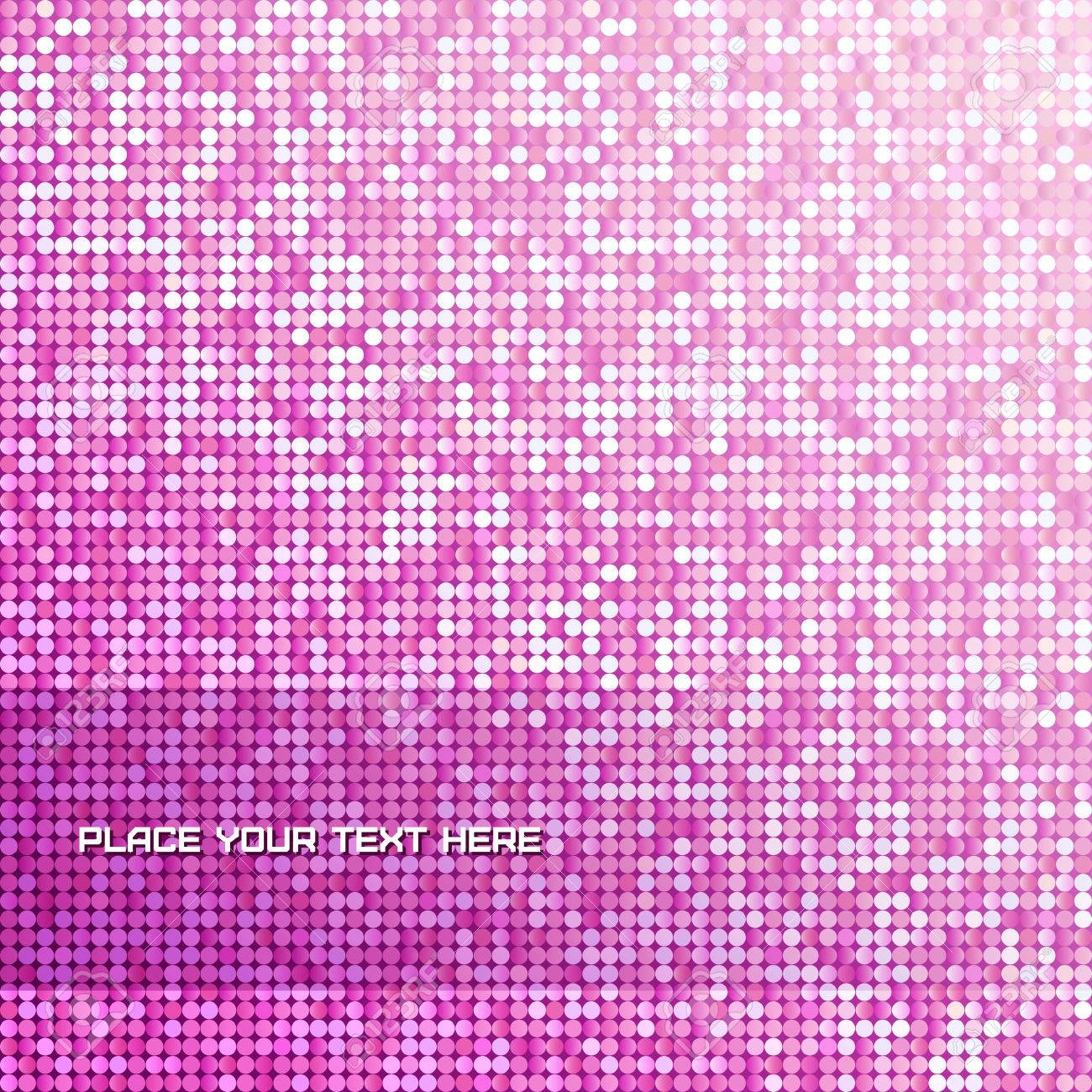 Seamless background with shiny pink paillettes. - 37732103