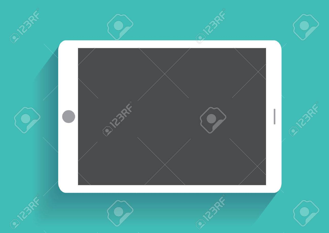 Tablet computer with blank screen. - 37768491