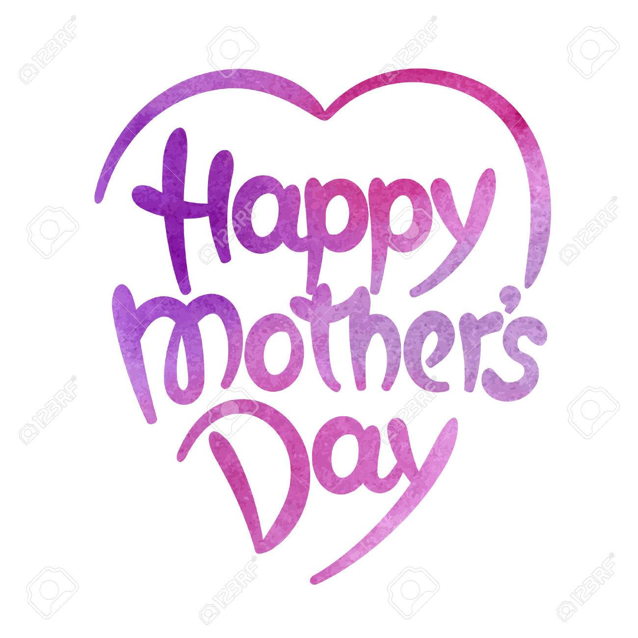 Happy mothers day hand-drawn lettering. Template for greeting card - 38747813