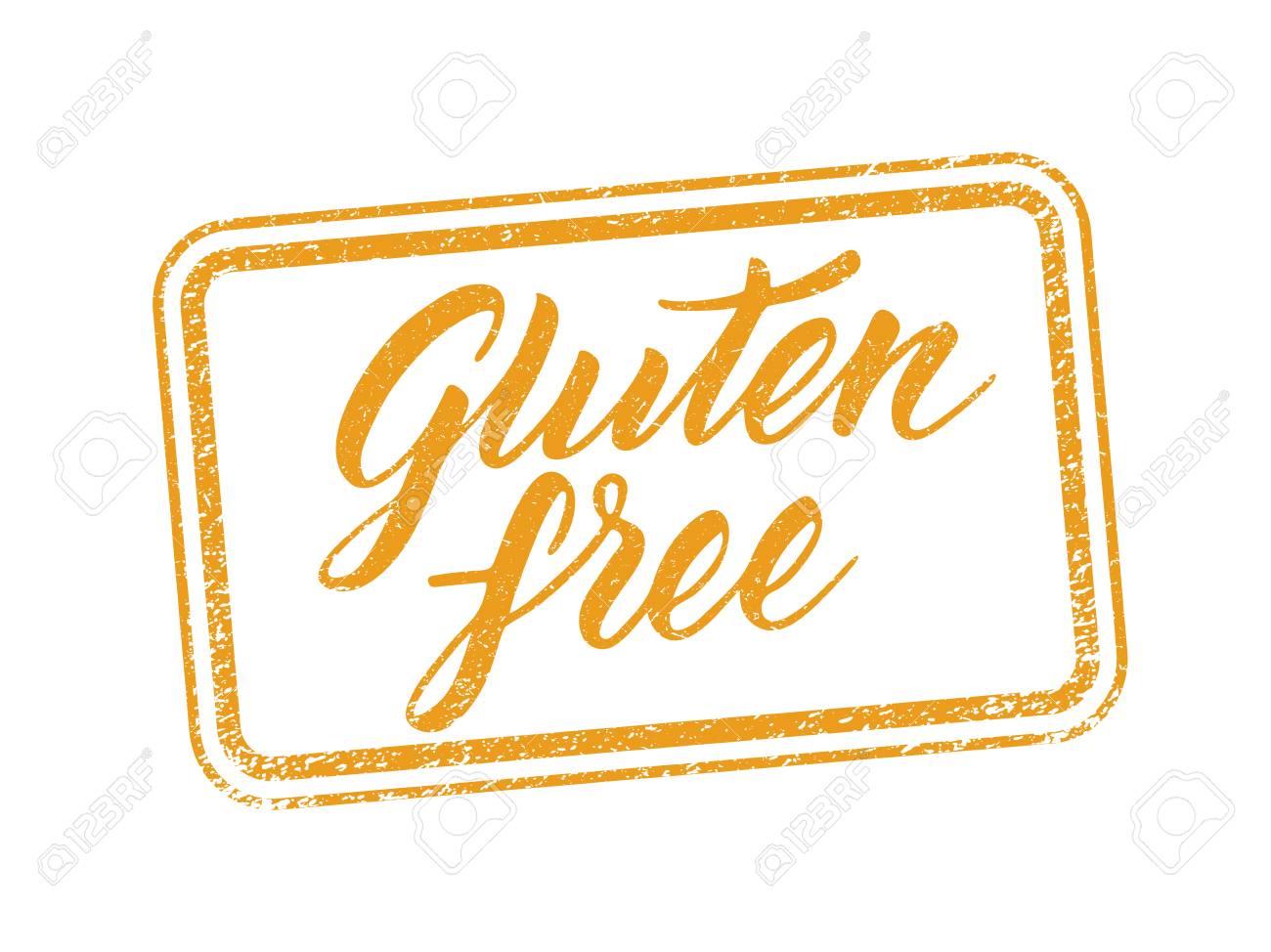 El Gluten Libera El Sello Con Leyendas Grabadas Dibujado A Mano ...