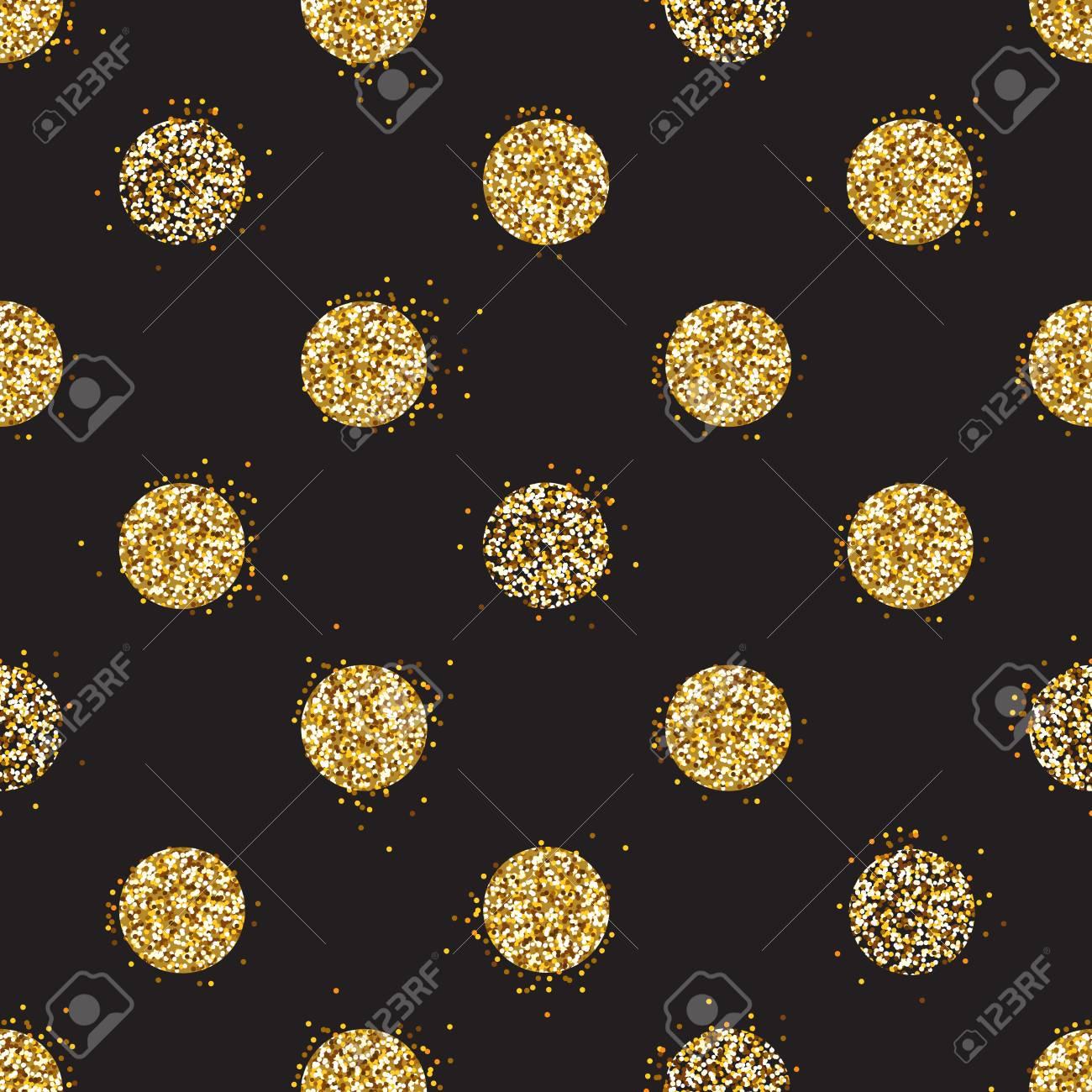 Fond Noir Et Or Avec Décoration De Paillettes Brillantes Modèle Sans Couture Grand Pour Des Cartes De Noël Et Danniversaire Des Affiches De