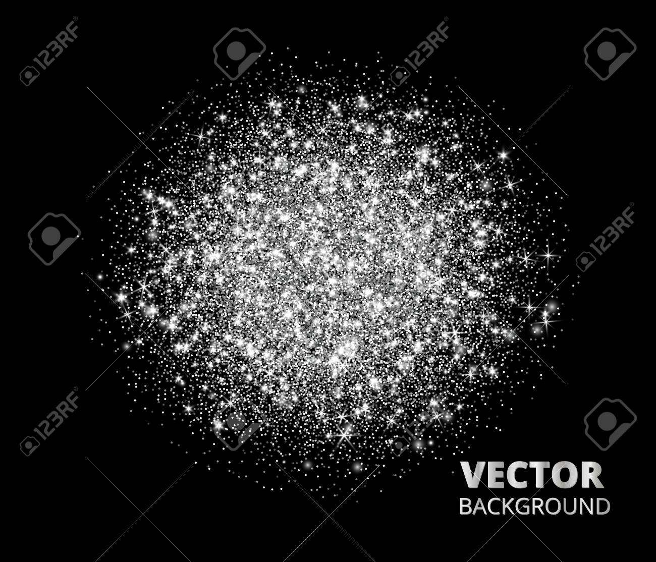 Sparkling Background Silver Glitter Explosion Great For Valentine Christmas And Birthday Greeting Cards