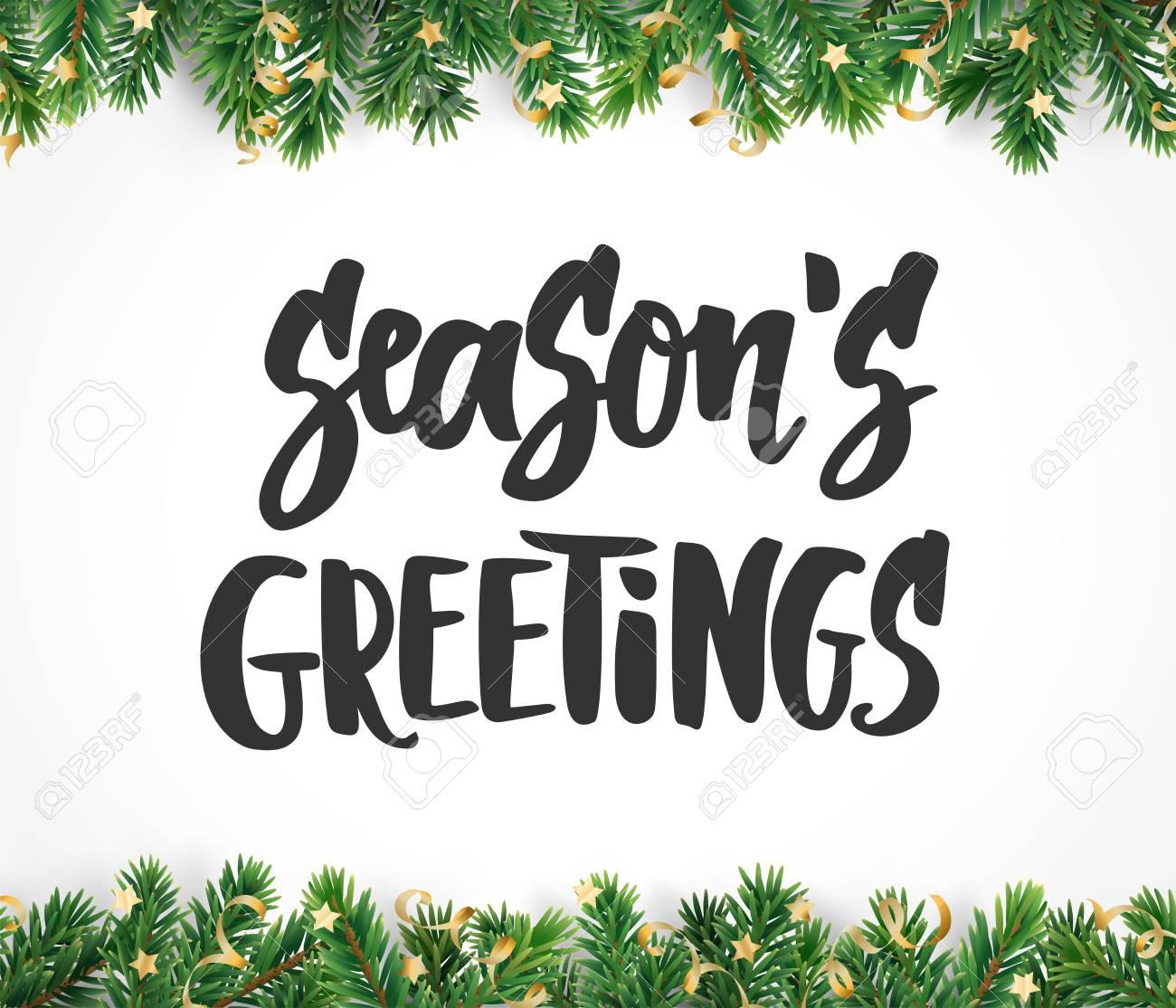 Seasons greetings text hand drawn brush lettering holiday quote seasons greetings text hand drawn brush lettering holiday quote isolated on white great kristyandbryce Images
